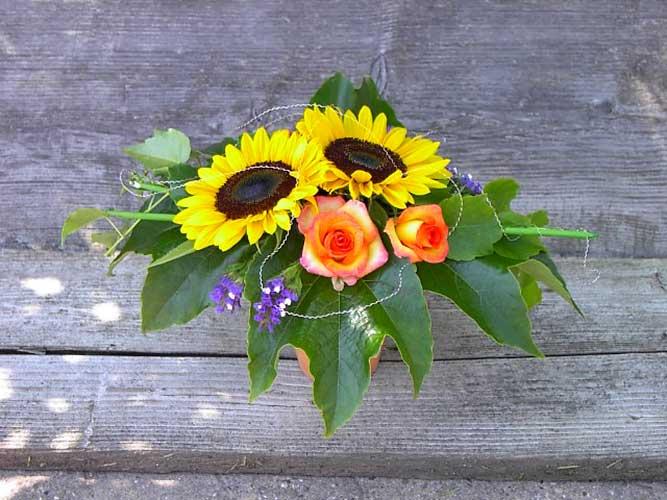 Sonnenblumen Blumenstrauß Sommer Frühling Gärtnerei Winterhalter Bad Krozingen